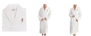 Linum Home Waffle Weave Embroidered Bathrobe Collection