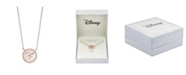 Disney Rose Gold-Tone Lilo and Stitch Mother-of-Pearl Pendant Necklace in Fine Silver Plate