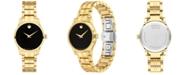 Movado Women's Swiss Gold PVD Stainless Steel Bracelet Watch 28mm