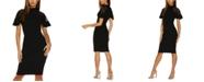 QUIZ Lace-Sleeve Bodycon Dress