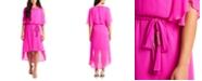 MSK Blouson High-Low Fit & Flare Dress