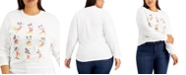 Love Tribe Trendy Plus Size Cotton Mickey Poses Long-Sleeve T-Shirt