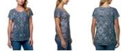 Gloria Vanderbilt Women's Opal Treasure Medallion T-shirt