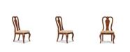 Furniture Evolution Queen Anne Side Chair in Rich Auburn Finish Wood