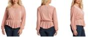 Jessica Simpson Trendy Plus Size Bettina Pleated Top