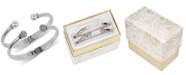 Charter Club 2-Pc. Set Pavé Bead & Imitation Pearl Cuff Bracelets, Created for Macy's