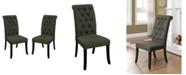Furniture of America Landon Tufted Upholstered Side Chair (Set of 2)