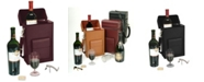 Royce Leather Royce New York Double Wine Carrying Case