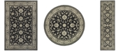 JHB Design  Tidewater  Pira Charcoal/Ivory Area Rugs
