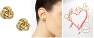 Macy's Love Knot Stud Earrings in 10k Gold