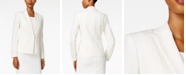 Kasper Petite Crepe One-Button Jacket