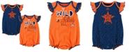 Majestic Houston Astros Team Sparkle Creeper 2-Piece Set, Baby Girls (0-9 months)
