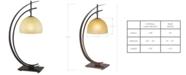 Kathy Ireland home by Pacific Coast Arc Orbit Bronze Table Lamp