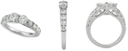 Macy's Diamond Two-Stone Engagement Ring (1-1/2 ct. t.w.) in 14k White Gold