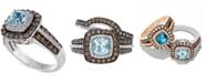 Le Vian Aquamarine (3/4 ct. t.w.) and Chocolate Diamonds® (3/4 ct. t.w.) in 14k White Gold