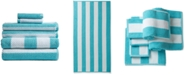 Caro Home Rugby Cotton 6-Pc. Textured Stripe Towel Set
