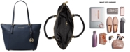 Michael Kors Jet Set Large Crossgrain Leather Tote