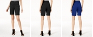 INC International Concepts INC Curvy-Fit Stud-Trim Bermuda Shorts, Created for Macy's