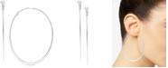 Macy's Large Flat Oval Hoop Earrings in Sterling Silver