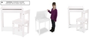 Melissa and Doug Wooden Lift-Top Desk & Chair - White