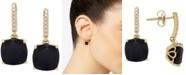 Macy's Onyx (8mm) & Diamond Accent Drop Earrings in 14k Gold