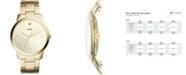 Fossil Men's Minimalist Carbon Series Diamond Gold-Tone Stainless Steel Bracelet Watch 44mm