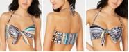 Becca Handkerchief Printed Reversible Bandeau Bikini Top