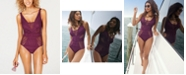 Becca Color Play Crochet Belted One-Piece Swimsuit