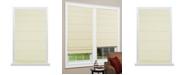 "US Shade & Shutter Cordless Texture Look Room Darkening Fabric Roman Shade, 31""x64"""