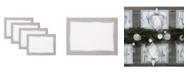 Villeroy & Boch  Metallic Brushstroke Placemat 4 Pc Set