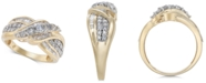 Macy's Diamond Overlap Cluster Ring (1 ct. t.w) in 14k Gold or White Gold