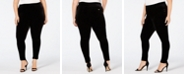 Calvin Klein Plus Size Pull-On Velvet Ankle Leggings