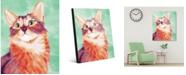 "Creative Gallery Painted Somali Cat On Green 24"" X 36"" Acrylic Wall Art Print"