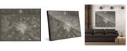 "Creative Gallery Paris Map In Dark Grey 20"" X 24"" Acrylic Wall Art Print"