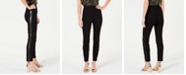 INC International Concepts I.N.C. Curvy Faux-Leather-Stripe Skinny Pants, Created for Macy's
