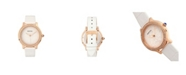Bertha Quartz Cora Collection White Leather Watch 40Mm