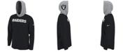 Nike Men's Oakland Raiders Helmet Hood Dri-FIT Cotton Long Sleeve T-Shirt