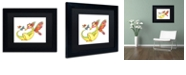 "Trademark Global Jennifer Nilsson Cheerful - Dragon 10 Matted Framed Art - 16"" x 20"" x 0.5"""