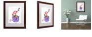 "Trademark Global Jennifer Nilsson Sugar and Spice Dragon Matted Framed Art - 11"" x 14"" x 0.5"""