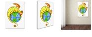 "Trademark Global Jennifer Nilsson Dreaming of Peace - Dragon Canvas Art - 14"" x 19"" x 2"""