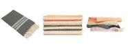 Linum Home Luxe Herringbone Pestemal Beach Towel
