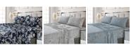 Tribeca Living Colmar Printed 300 Thread Count Cotton Sateen Extra Deep Pocket Sheet Set Twin XL Sheet Set