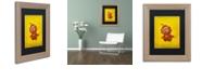 """Trademark Global Craig Snodgrass 'Red Robot Star' Matted Framed Art, 11"""" x 14"""""""
