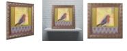 """Trademark Global Rachel Paxton 'Small Bird 211' Ornate Framed Art, 11"""" x 11"""""""