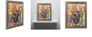 "Trademark Global Dean Russo 'German Shepherd Luv' Ornate Framed Art, 11"" x 14"""