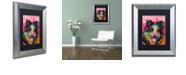 "Trademark Global Dean Russo 'Border Collie Luv' Matted Framed Art, 11"" x 14"""