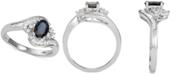 Macy's Sapphire (1 ct. t.w.) & Diamond (3/8 ct. t.w.) Ring in 14k White Gold (Also in Emerald)