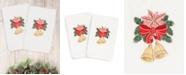 Linum Home CLOSEOUT!  Christmas Bells 100% Turkish Cotton 2-Pc. Hand Towel Set