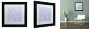 "Trademark Global Color Bakery 'Kasbah Blue Iii' Matted Framed Art, 11"" x 11"""