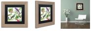 "Trademark Global Color Bakery 'Walking On Air I' Matted Framed Art, 11"" x 11"""